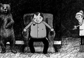 """""""Czarno-Białe Kreskówki"""" autorstwa Davida Firtha"""